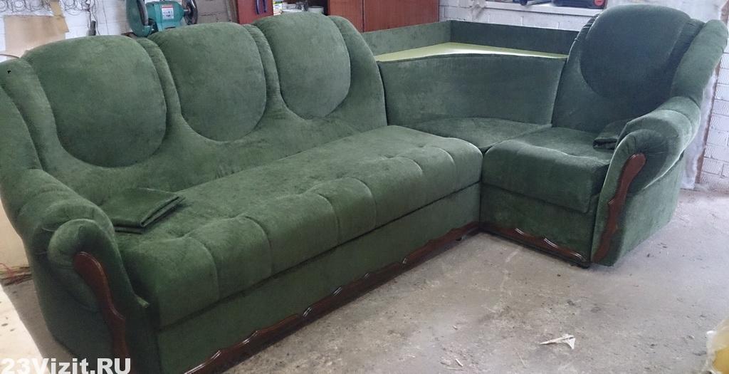 Перетяжка, ремонт углового дивана
