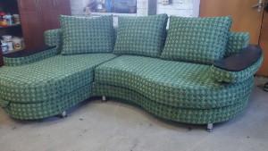 Замена материала углового дивана